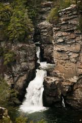 Linville Falls along the Blue Ridge Parkway