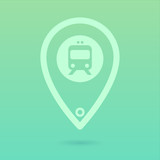 Flat Train Icon Placeholder poster