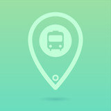 Flat Bus Icon Placeholder poster