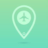 Flat Plane Icon Placeholder poster