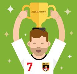 Winning a trophy