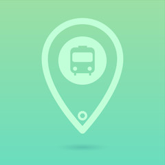 Flat Bus Icon Placeholder