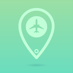 Flat Plane Icon Placeholder