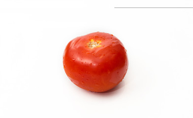 Over ripe red tomato isolated