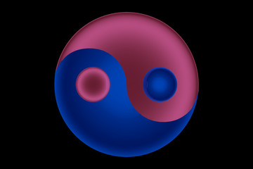 Red & Blue Yin&Yang