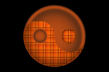 Orange Plaid, Yin&Yang