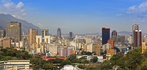Skyline of downtown Caracas, capital city of Venezuela