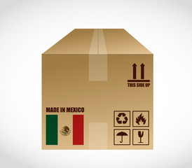 made in Mexico shipping box. illustration