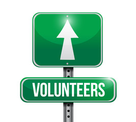 volunteers street sign illustration design