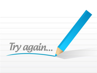 try again message illustration design