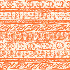 tribal orange ornament
