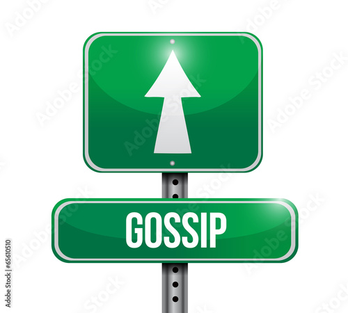 gossip street post illustration design