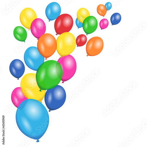 Colorful Balloons Party Vector Background - 65610969