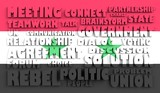 syria flag relief text in conformity with political situation poster