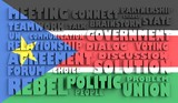 south sudan flag relief text in conformity political situation poster