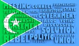 galmudug flag relief text in conformity with political situation poster