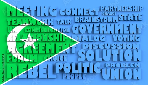 poster of galmudug flag relief text in conformity with political situation