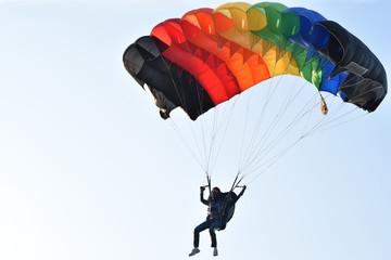 parachute before landing
