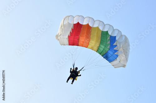 Fototapeta parachute girl