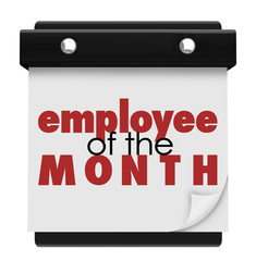 Employee of the Month Calendar Top Performing Worker Award