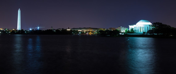 Washington, DC - Washington Monument and Jefferson Memorial