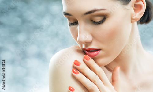 canvas print picture colorful manicure