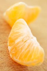 Tangerine slices close-up