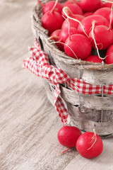 Radish in basket