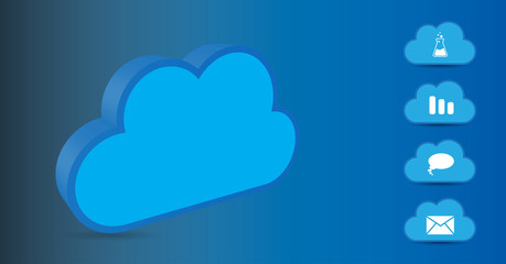 Cloud concept. Vector