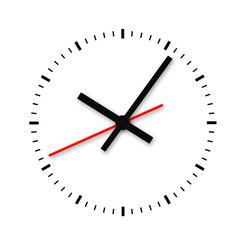 Clock and timestamp without numbers.