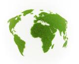 World map grass patch