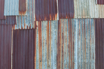 rusted galvanized iron plate texture