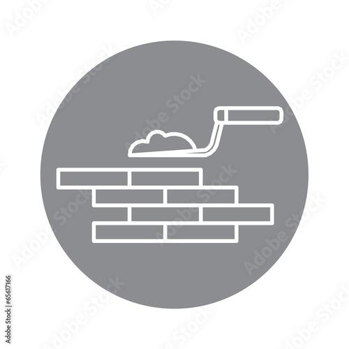 building brick wall vector