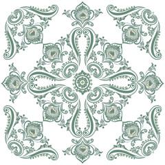 Flora vintage pattern, decorative ornament motif
