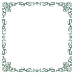 Floral fancy vintage pattern frame