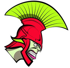 Cartoon Trojan or Spartan Vector