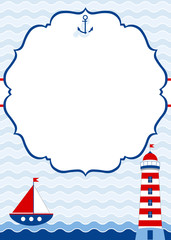 Nautical Invitation Card