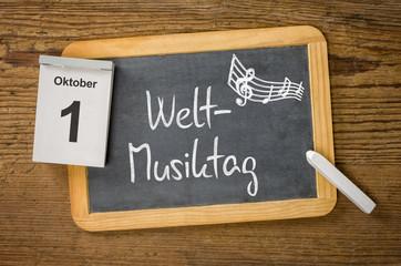 Am 1. Oktober ist Weltmusiktag