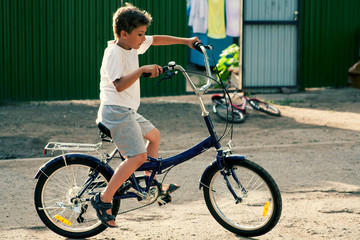 Little boy ride on bike