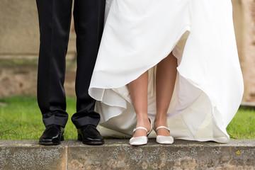 Brautpaar Beine