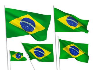 Brazil vector flags