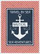 Nautical. Retro poster in flat design style. - 65619736