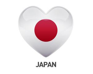 Japan Flag Heart Icon