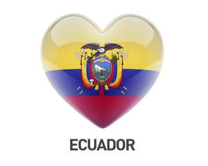 Ecuador Flag Heart Icon