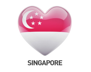 Singapore Flag Heart Icon