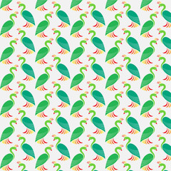 Seamless wallpaper peacock.
