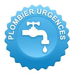 plombier urgences sur bouton web denté bleu