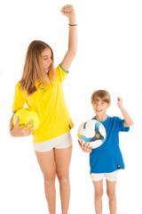 bambine tifose di calcio