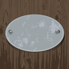 metal sign, zinc signboard on wood,background