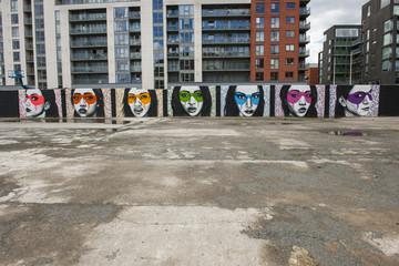 Mauermalerei in Dublin